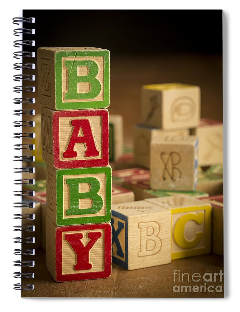 Blocks Spiral Notebook featuring the photograph Baby Blocks by Edward Fielding