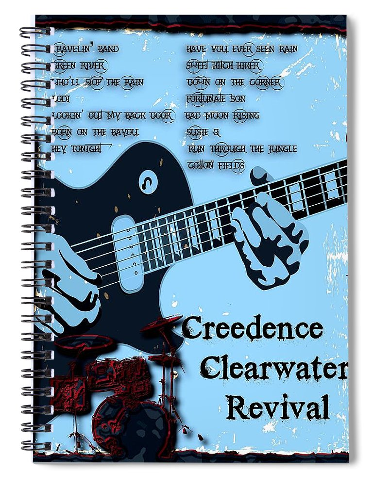Ccr Spiral Notebook featuring the digital art Bad Moon Rising by Michael Damiani