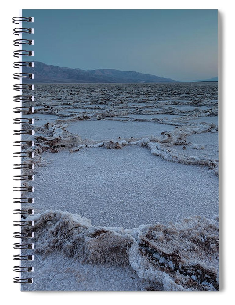 Tranquility Spiral Notebook featuring the photograph Badwater Salt Flats by Henryk Welle