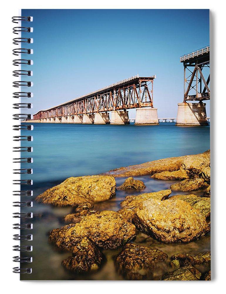 Seascape Spiral Notebook featuring the photograph Bahia Honda State Park Florida by Ferrantraite