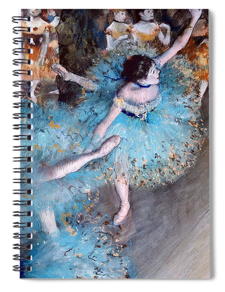 Ballerina On Pointe Spiral Notebook featuring the painting Ballerina on pointe by Edgar Degas