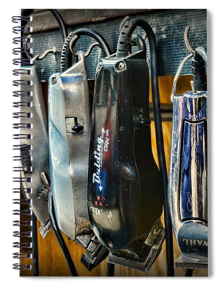 Vintage Barber Spiral Notebook featuring the photograph Barber - Hair Clippers by Paul Ward