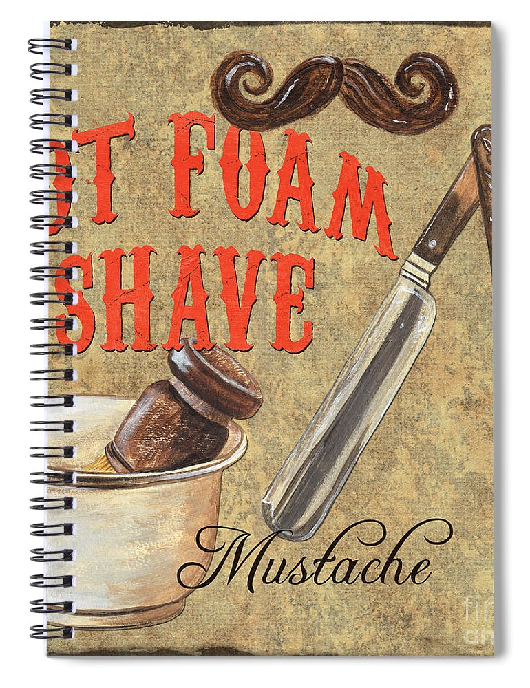 Fashion Spiral Notebook featuring the painting Barber Shoppe 2 by Debbie DeWitt