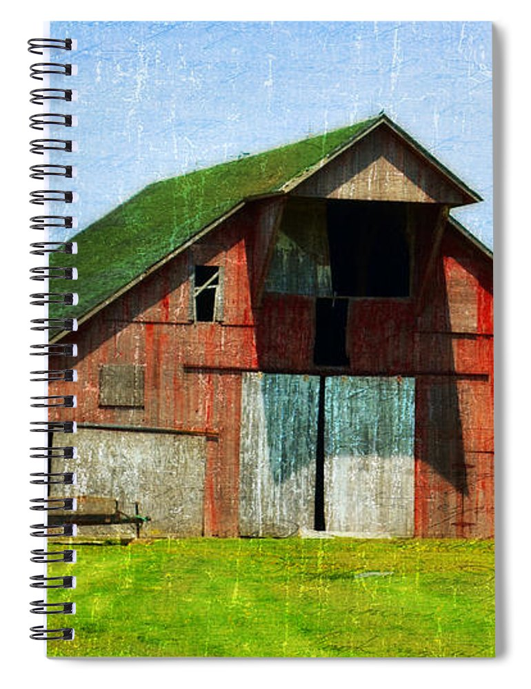 Vandalia Illinois Spiral Notebook featuring the photograph Barn - Central Illinois - Luther Fine Art by Luther Fine Art