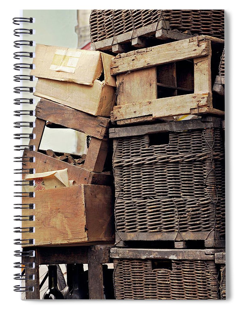 Outdoors Spiral Notebook featuring the photograph Baskets In Paris by Sharon Lapkin