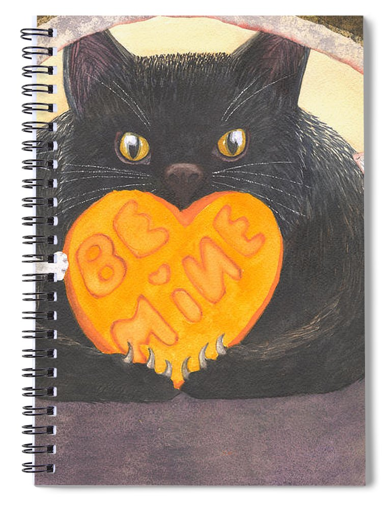 Cat Spiral Notebook featuring the painting Be Mine by Catherine G McElroy