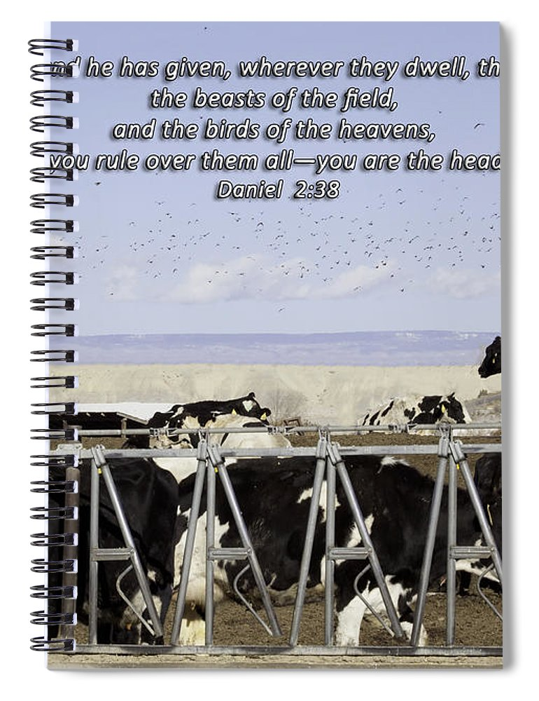 Sad Spiral Notebook featuring the photograph Beasts Of The Field by Janice Pariza