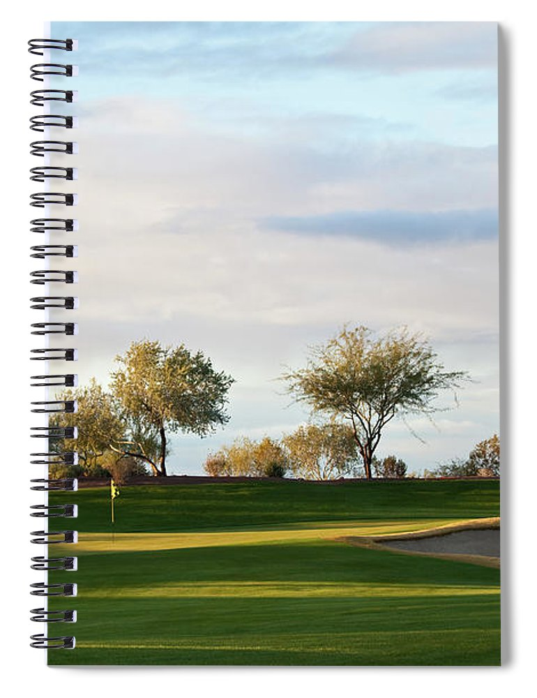 Sand Trap Spiral Notebook featuring the photograph Beautiful Desert Golf Course by Imaginegolf
