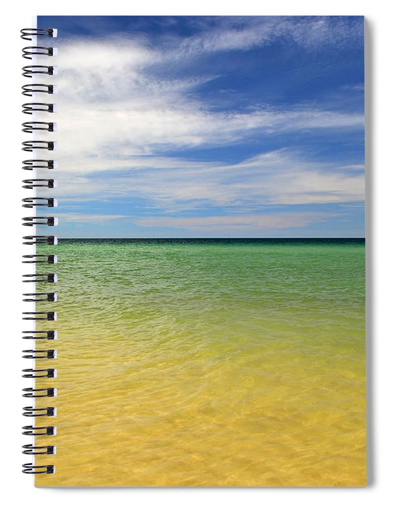 Landscape Spiral Notebook featuring the photograph Beautiful St George Island Water by Holden Parker
