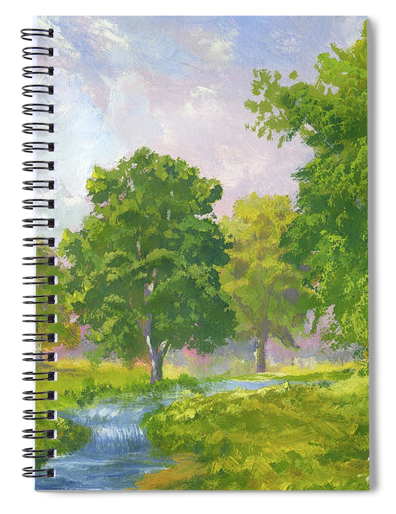 Scenics Spiral Notebook featuring the digital art Beautiful Summer by Pobytov