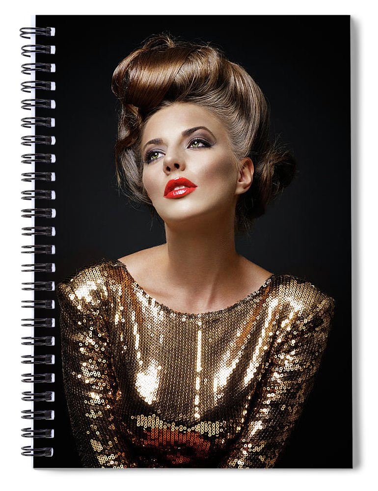 Cool Attitude Spiral Notebook featuring the photograph Beautiful Woman by Millann
