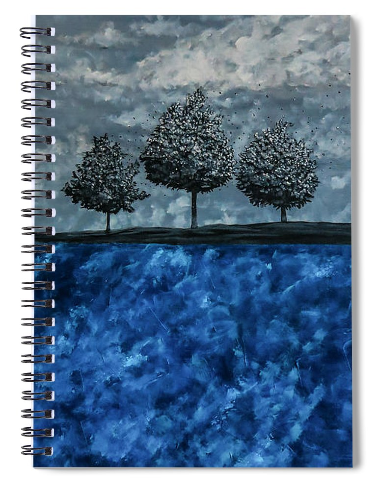 Surrealistic Spiral Notebook featuring the painting Beauty In The Breakdown by Joel Tesch