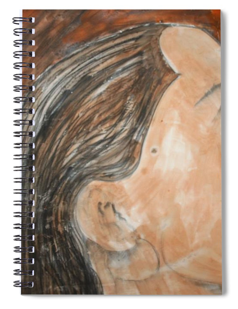 Women Spiral Notebook featuring the painting Beauty Remains by J Bauer
