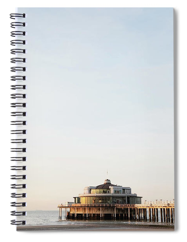 Tranquility Spiral Notebook featuring the photograph Belgium, Blankenberge, View Of Pier At by Westend61