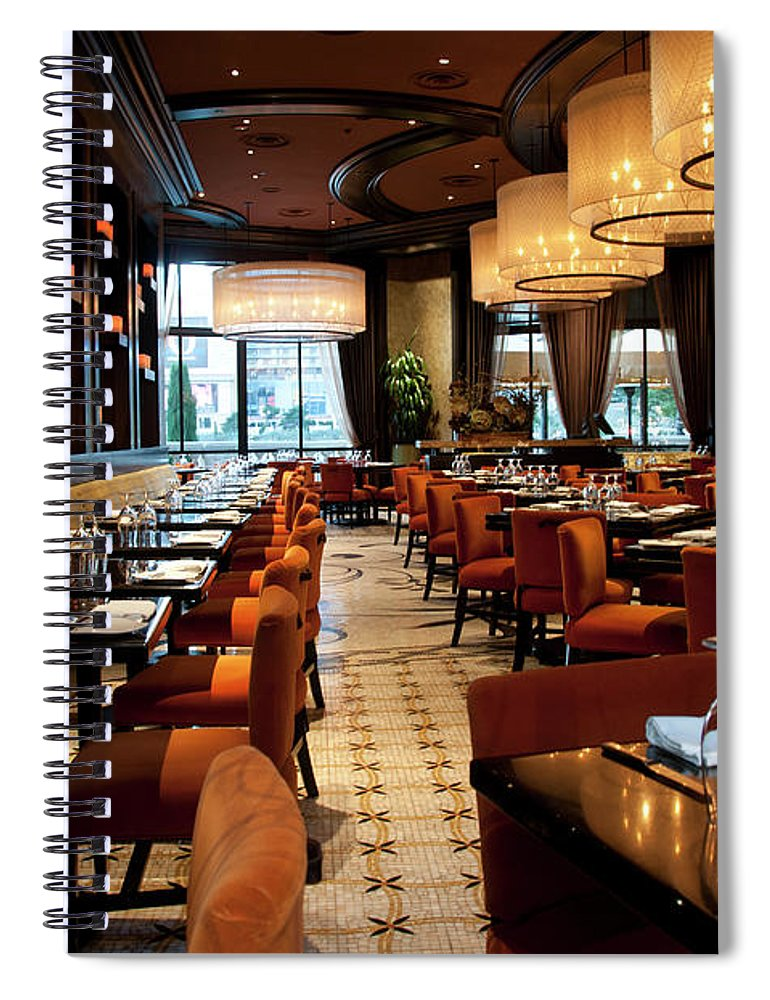 Home Decor Spiral Notebook featuring the photograph Bellagio Interior by Mitch Diamond