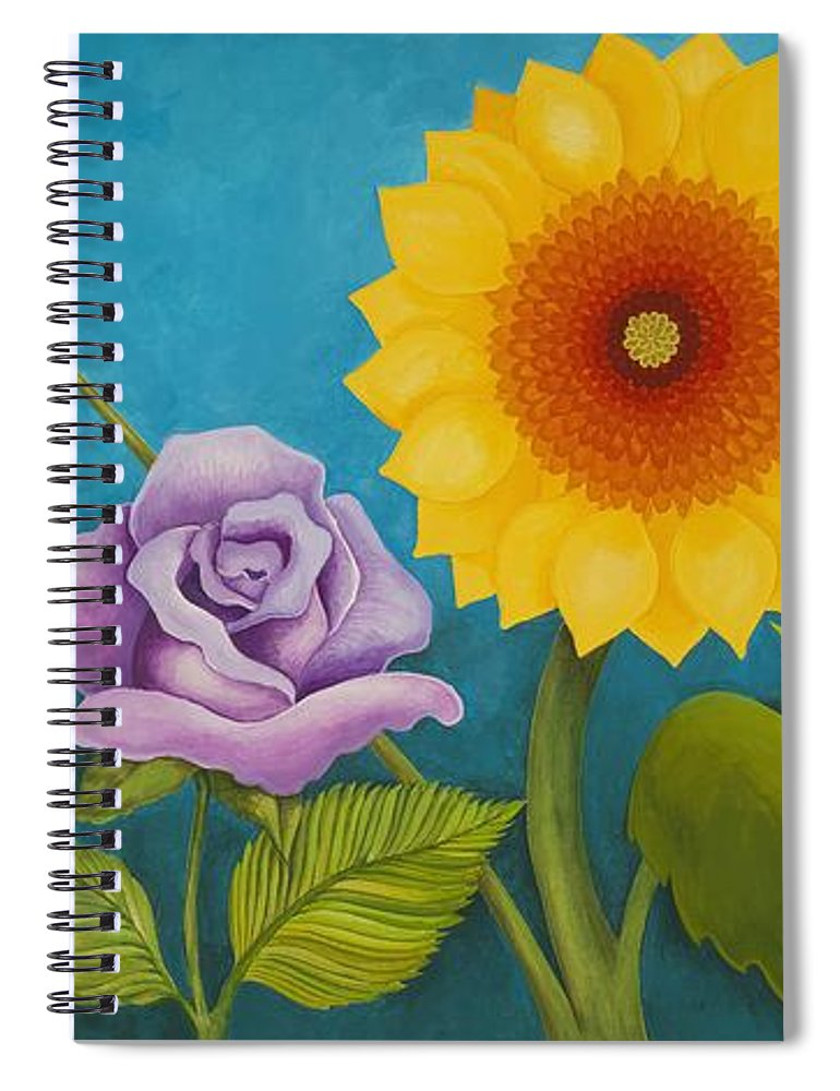 Art Spiral Notebook featuring the painting Best Friends by Carol Sabo