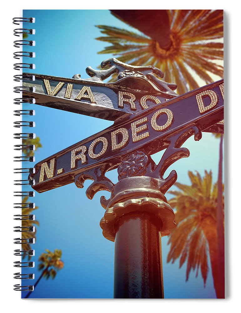Beverly Hills Spiral Notebook featuring the photograph Beverly Hills California by Lpettet