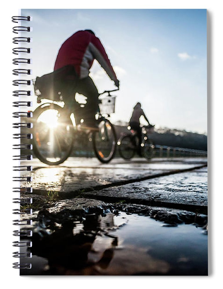 People Spiral Notebook featuring the photograph Bicycles by A. Aleksandravicius