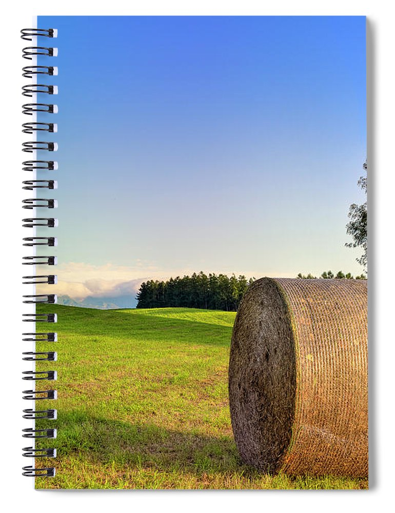 Tranquility Spiral Notebook featuring the photograph Biei, Hokkaido Japan by Photo By Johnny Ngai