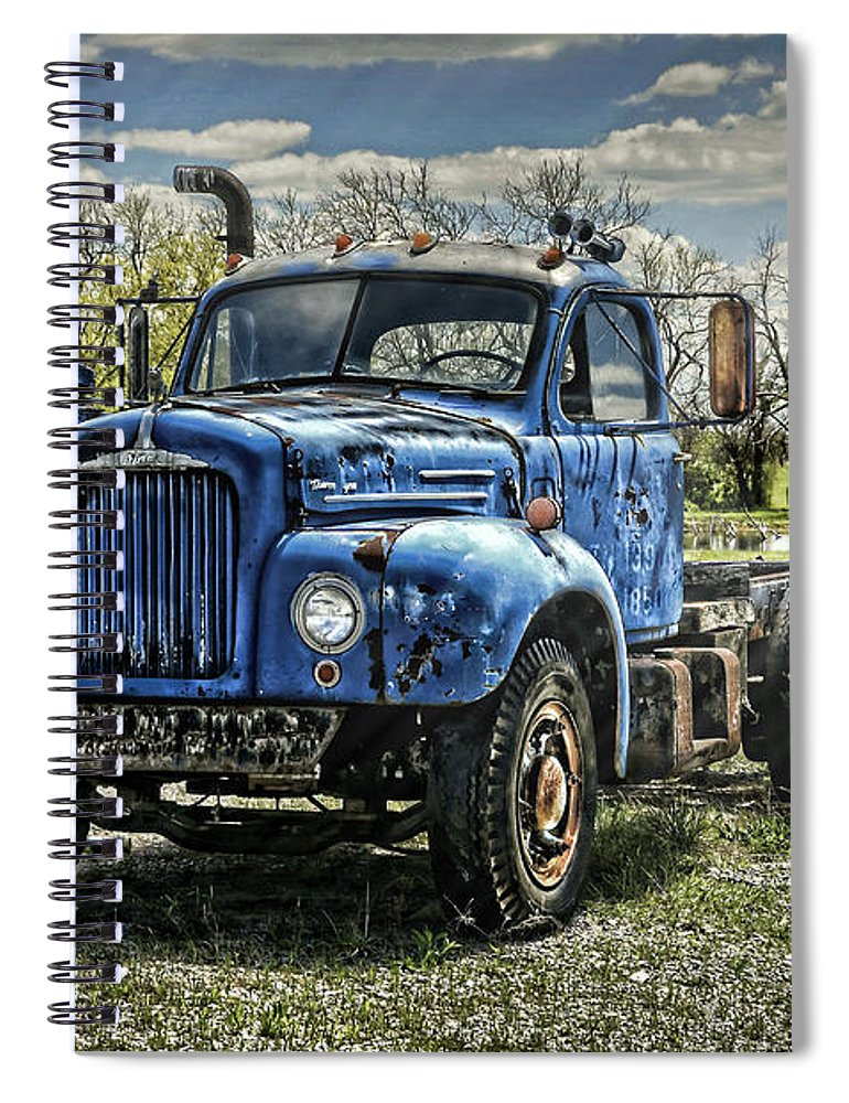 1958 Spiral Notebook featuring the photograph Big Blue Mack by Ken Smith