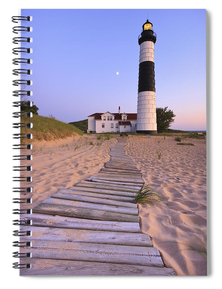 3scape Photos Spiral Notebook featuring the photograph Big Sable Point Lighthouse by Adam Romanowicz