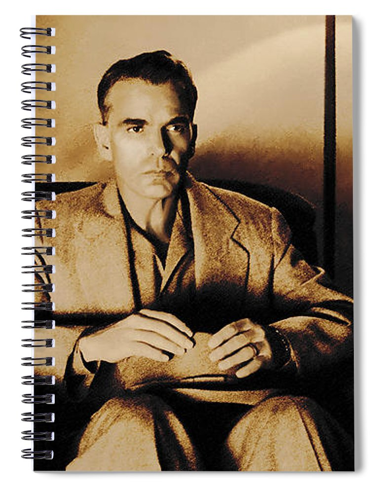 Billy Bob Thornton Spiral Notebook featuring the digital art Billy Bob Thornton as Ed Crane in the film The Man Who Wasn t There by Gabriel T Toro