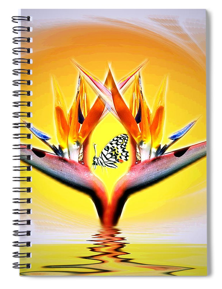 Bird Of Paradise Spiral Notebook featuring the digital art Bird Of Paradise by Joyce Dickens