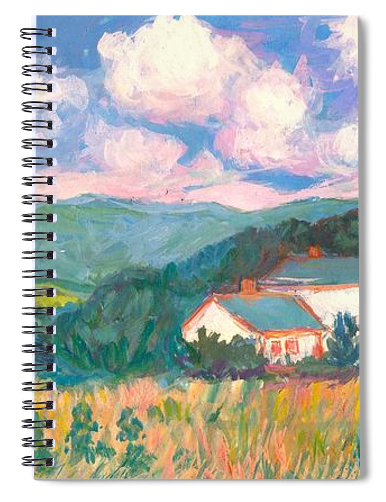 Clouds Spiral Notebook featuring the painting Blacksburg Clouds by Kendall Kessler