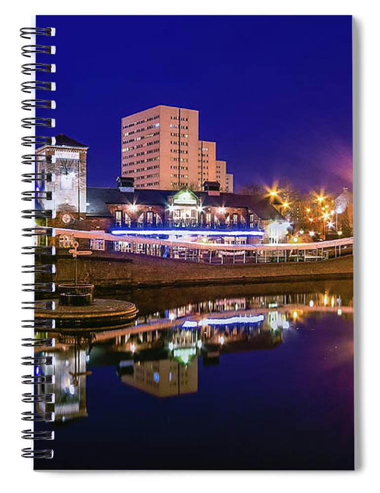 Birmingham Spiral Notebook featuring the photograph Blue Hour In Birmingham by Fiona Mcallister Photography