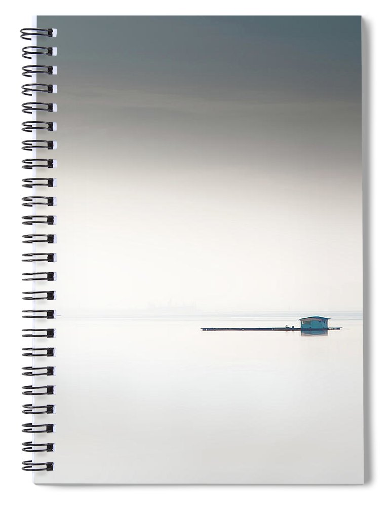 Tranquility Spiral Notebook featuring the photograph Blue Kelong by Khairul Fitri Mohamad