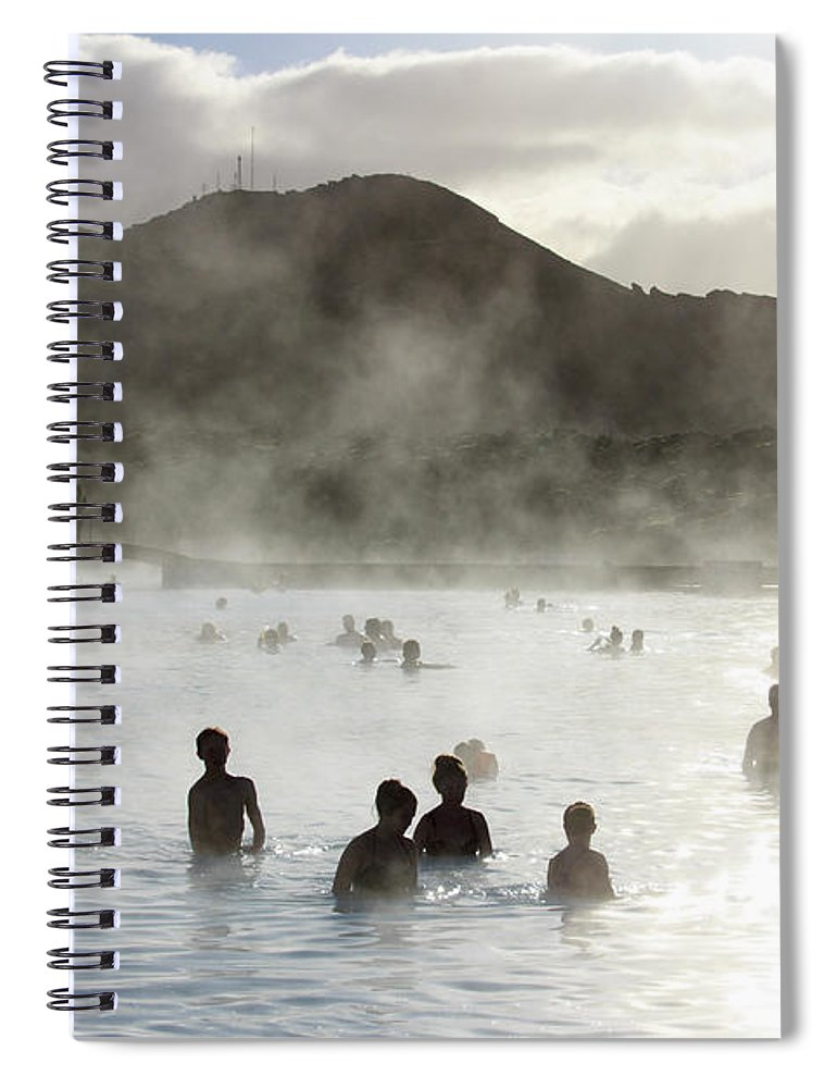 Spa Spiral Notebook featuring the photograph Blue Lagoon Geothermal Spa by Thomas Janisch