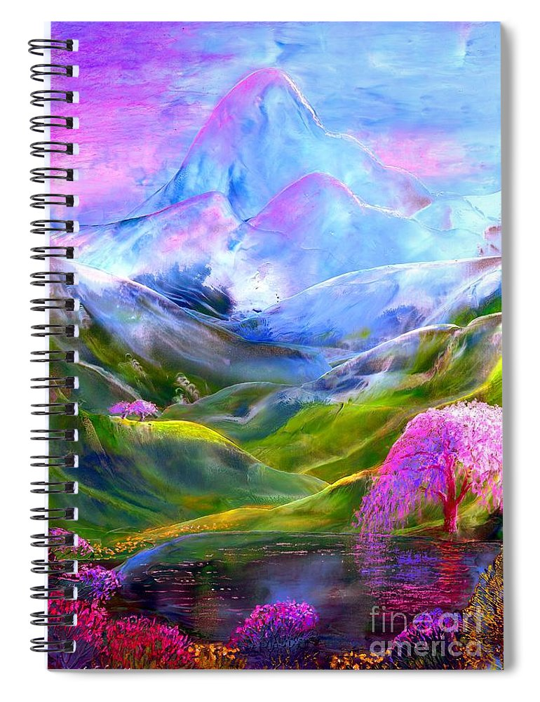 Mountain Spiral Notebook featuring the painting Blue Mountain Pool by Jane Small