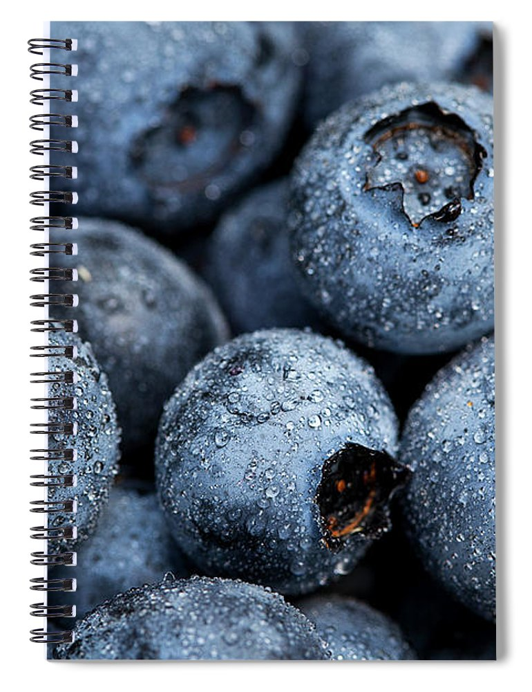 Surrey Spiral Notebook featuring the photograph Blueberries Fruits by Kevin Van Der Leek Photography