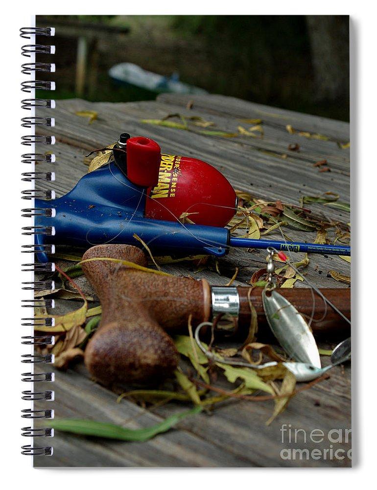 Angling Spiral Notebook featuring the photograph Blured Memories 01 by Peter Piatt