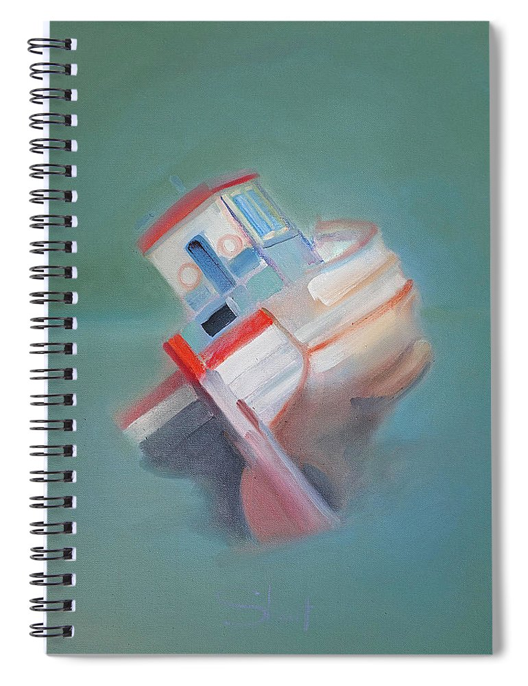 Fishing Boat Spiral Notebook featuring the painting Boat Retired Tavira by Charles Stuart