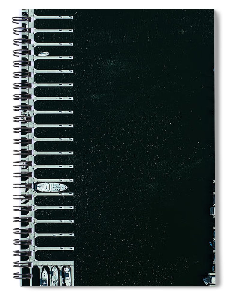 Tranquility Spiral Notebook featuring the photograph Boats In The Harbour by Michael H