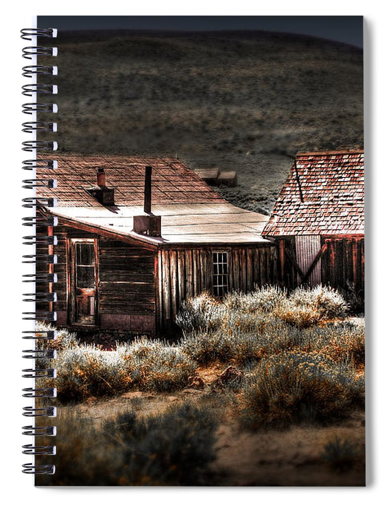 Bodie House Spiral Notebook featuring the photograph Bodie House by Chris Brannen