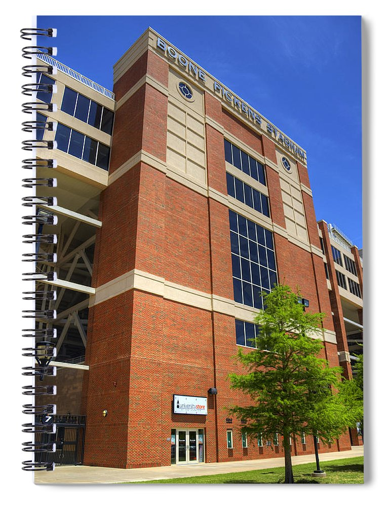 Boone Spiral Notebook featuring the photograph Boone Pickens Stadium by Ricky Barnard