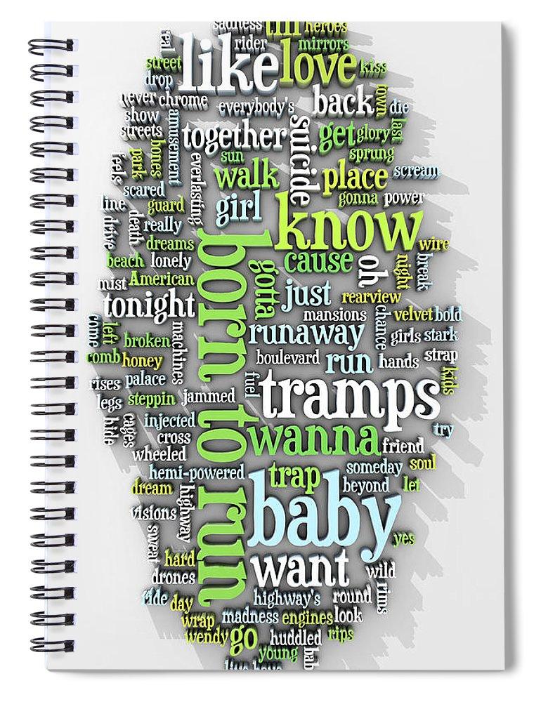 Born Spiral Notebook featuring the digital art Born to Run by Scott Norris