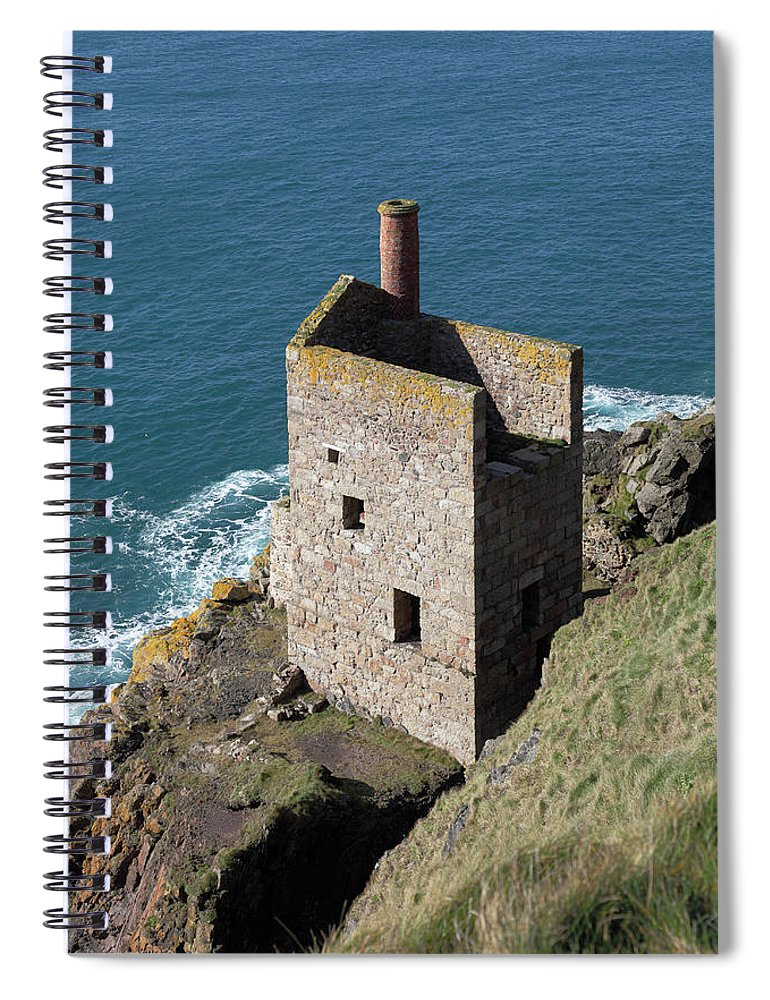 Tin Spiral Notebook featuring the photograph Botallack Tin Mine St Just, Cornwall by Anthony Collins