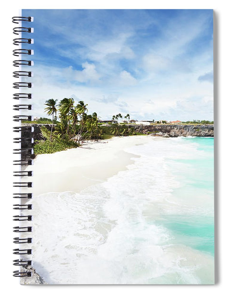 Scenics Spiral Notebook featuring the photograph Bottom Bay, Barbados by Tomml