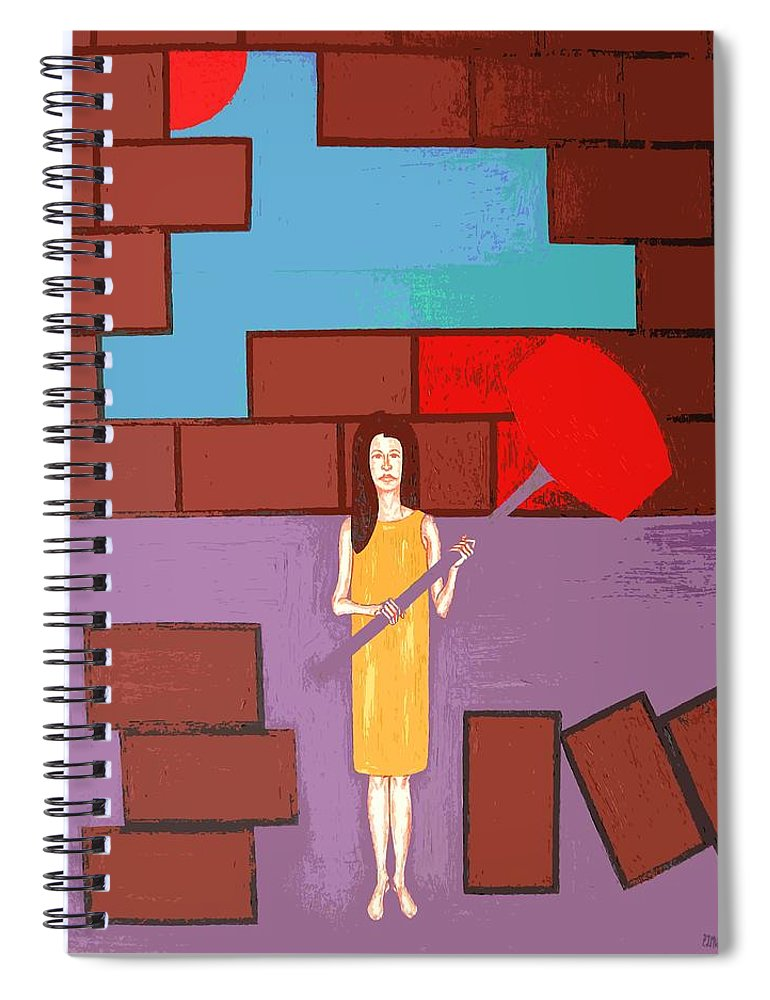 Art Spiral Notebook featuring the painting Breakthrough by Patrick J Murphy