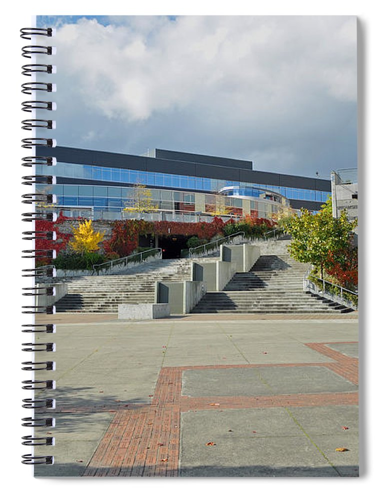 City Spiral Notebook featuring the photograph Bremerton Conference Center by Tikvah's Hope