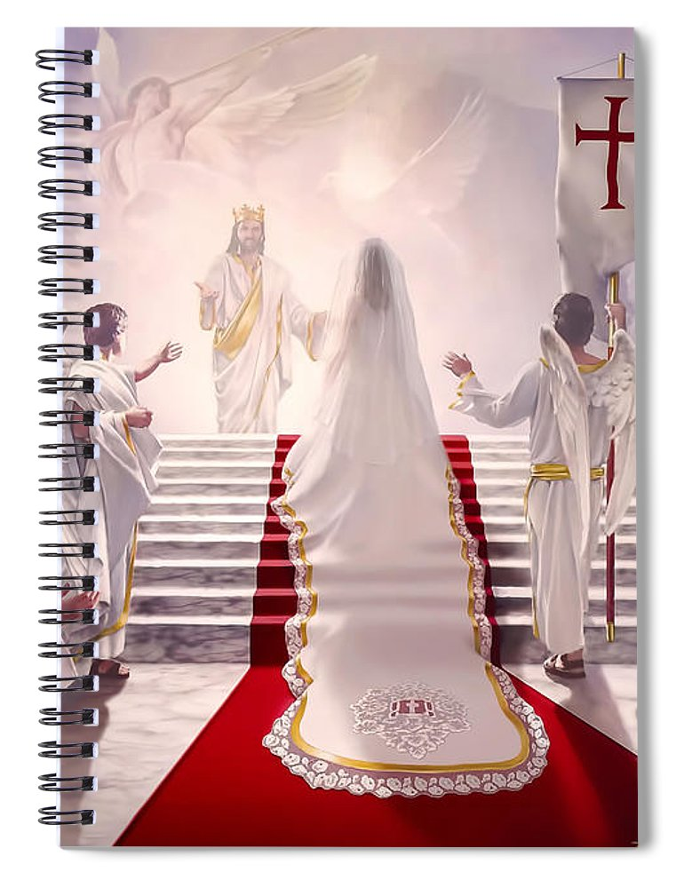 Christian Spiral Notebook featuring the painting Bride of Christ by Danny Hahlbohm