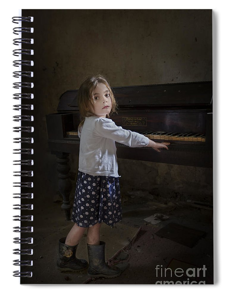 Girl Spiral Notebook featuring the photograph Broken Hearted Melody by Evelina Kremsdorf