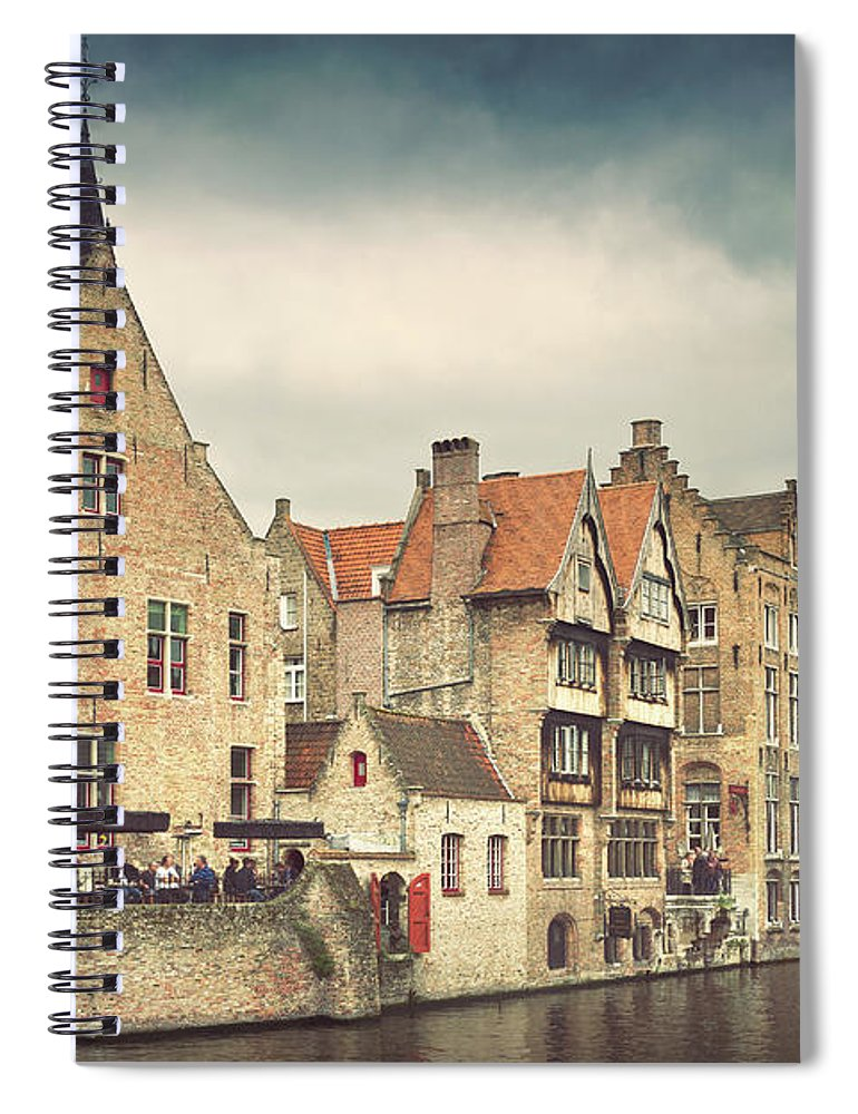 Tranquility Spiral Notebook featuring the photograph Brugge by Ellen Van Bodegom