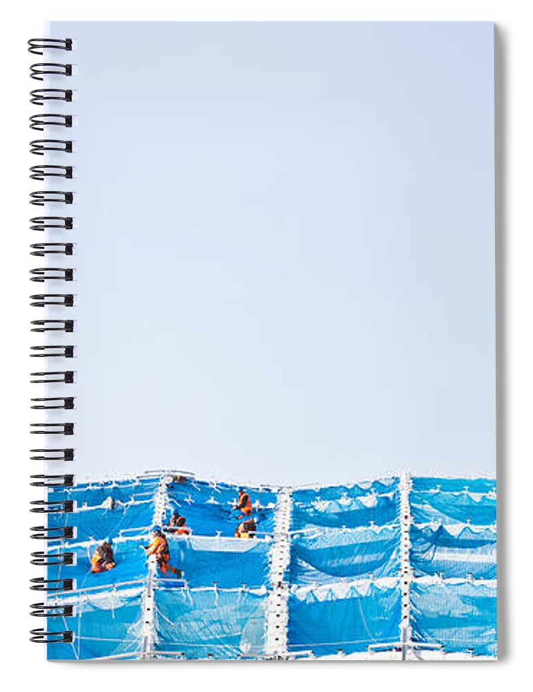 Accident Spiral Notebook featuring the photograph Building Work by Tom Gowanlock