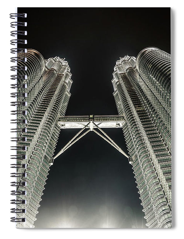 Viewpoint Spiral Notebook featuring the photograph Buildings Bridge by Twilightshow