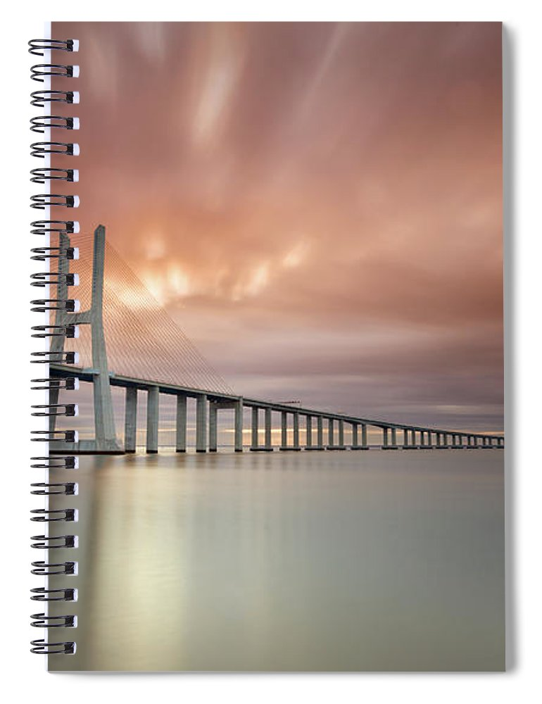 Tranquility Spiral Notebook featuring the photograph Burn, Fire Burn by Landscape Photography