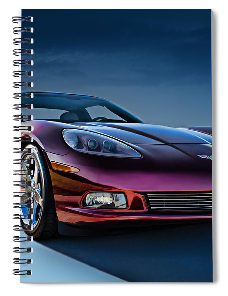 Chevrolet Spiral Notebook featuring the digital art C6 Corvette by Douglas Pittman